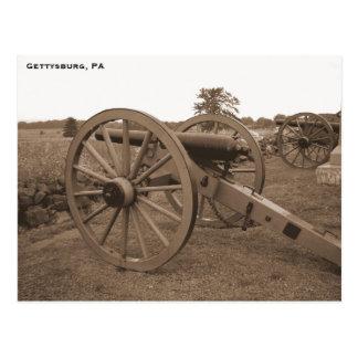 Cartão Postal Canhão da guerra civil, Gettysburg, PA