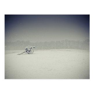 Cartão Postal Canhão do campo de batalha de Manassas na neve