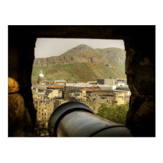 Cartão Postal Canhão do castelo de Edimburgo