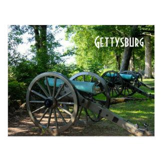 Cartão Postal Canhões do parque militar nacional de Gettysburg