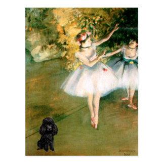 Cartão Postal Caniche (Black1) - dois dançarinos