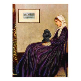 Cartão Postal Caniche (preto 1) - a mãe do assobiador