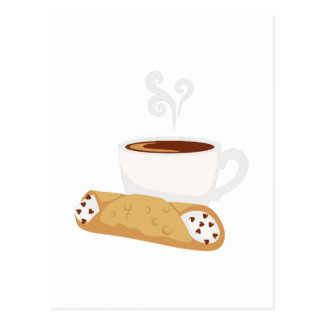 Cartão Postal Cannoli & café