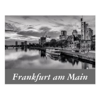 Cartão Postal Cano principal de rio em Francoforte - am - cano