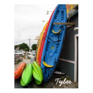 Cartão Postal Canoas de Tybee