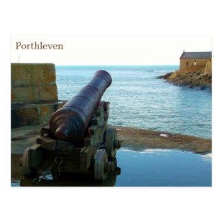 Cartão Postal Canon Porthleven Cornualha Inglaterra