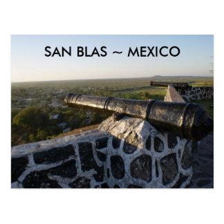 Cartão Postal Cânones em San Blas México