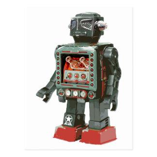 Cartão Postal Cânones favoritos de w do robô do brinquedo