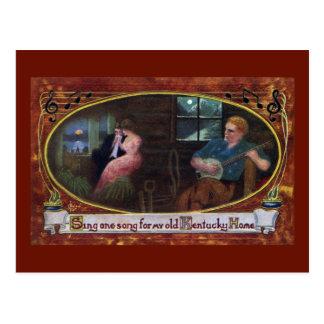Cartão Postal Cante uma canção para minha casa velha de Kentucky
