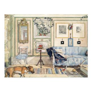 Cartão Postal Canto acolhedor por Carl Larsson