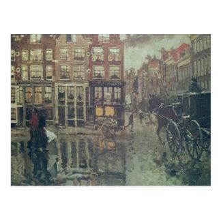 Cartão Postal Canto do quadrado de Leidsche, Amsterdão