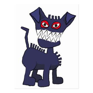 Cartão Postal cão azul