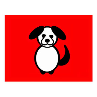 Cartão Postal Cão da família da vara