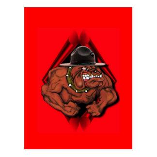 Cartão Postal Cão de diabo do USMC