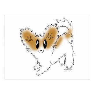 Cartão Postal Cão de filhote de cachorro desalinhado bonito de