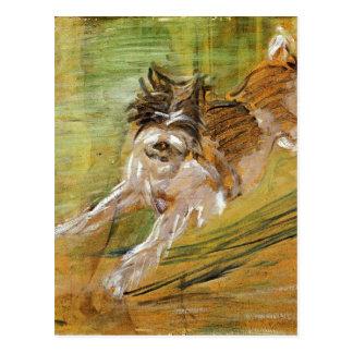 Cartão Postal Cão de salto Schlick por Franz Marc