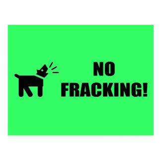 Cartão Postal Cão do activista: Nenhum Fracking