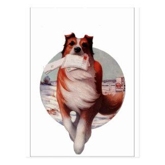 Cartão Postal Cão do correio