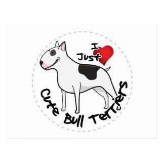 Cartão Postal Cão engraçado & bonito adorável feliz de bull