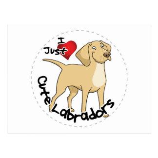 Cartão Postal Cão engraçado & bonito adorável feliz de Labrador
