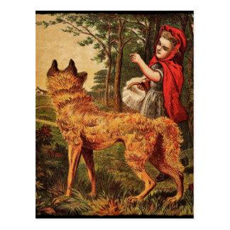 Cartão Postal Capa de equitação vermelha