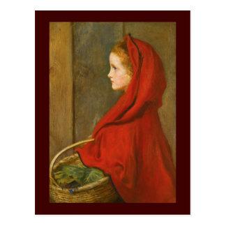 Cartão Postal Capa de equitação vermelha por Millais