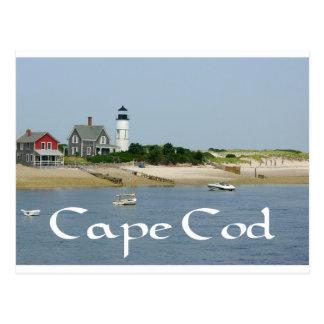 Cartão Postal Cape Cod, farol do pescoço de Massachusetts - de