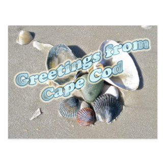 Cartão Postal Cape Cod Massachusetts - Shell & surf