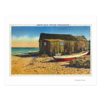 Cartão Postal Cape Cod, MassachusettsView de uma barraca da