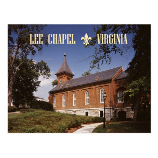 Cartão Postal Capela de Lee, lugar de descanso final de Robert