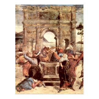 Cartão Postal Capela de Sistine - punições do Levites