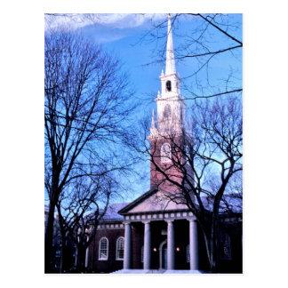 Cartão Postal Capela do memorial de Harvard