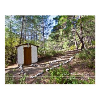 Cartão Postal capela do porto do santo na floresta de Chipre