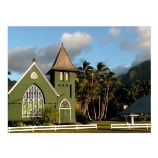 Cartão Postal Capela norte da costa de Kauai Havaí