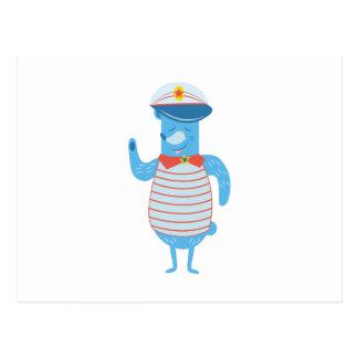Cartão Postal Capitão do barco