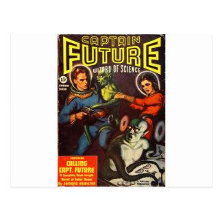 Cartão Postal Capitão Futuro e Doom. solar
