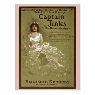 """Cartão Postal """"Capitão Jinks vintage dos fuzileiros navais de"""