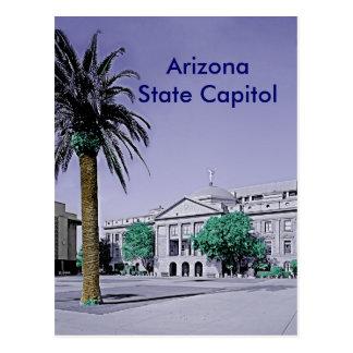 Cartão Postal Capitólio do estado da arizona retro com toque da