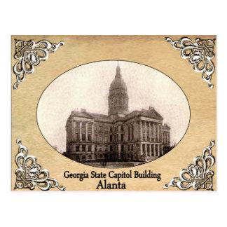 Cartão Postal Capitólio do estado de Geórgia que constrói o