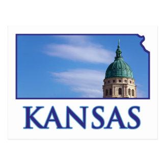 Cartão Postal Capitólio do estado de Kansas
