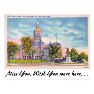 Cartão Postal Capitólio do estado, Hartford, Connecticut