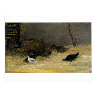 Cartão Postal Capoeira de galinha por Paul Gauguin