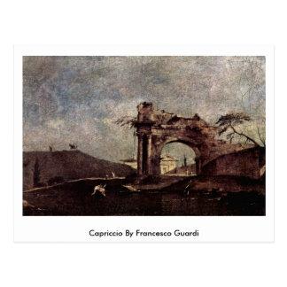 Cartão Postal Capricho por Francesco Guardi