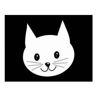Cartão Postal Cara bonito do gato