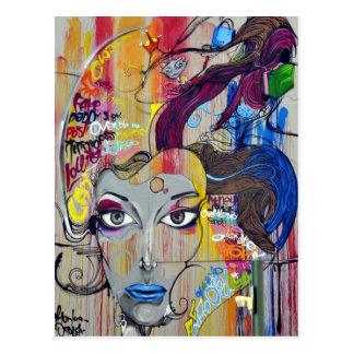 Cartão Postal Cara da arte dos grafites de Rio