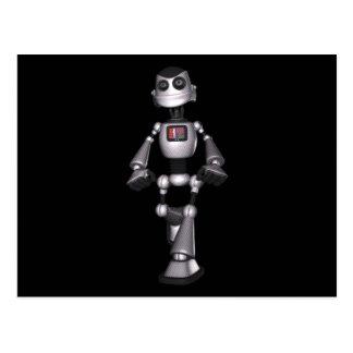 Cartão Postal cara de intervalo mínimo do robô da ficção