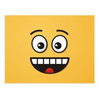 Cartão Postal Cara de sorriso com boca aberta