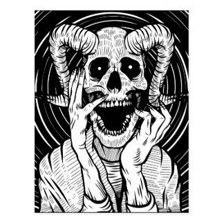 Cartão Postal cara do diabo