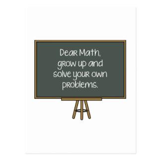 Cartão Postal Cara Matemática, cresce acima e resolve seus