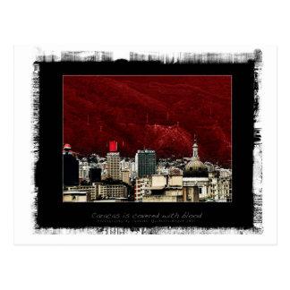 Cartão Postal Caracas é coverd com sangue